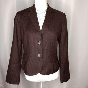 BANANA REPUBLIC Pinstripe Blazer/Jacket Sz 8P